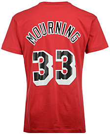 Mitchell & Ness Men's Alonzo Mourning Miami Heat Hardwood Classic Player T-Shirt
