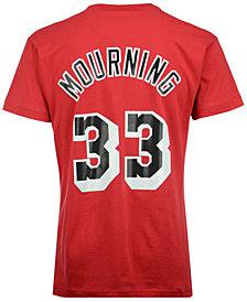 Mitchell & Ness Men's Alonzo Mourning Miami Heat Hardwood Classic Player T-Shirt