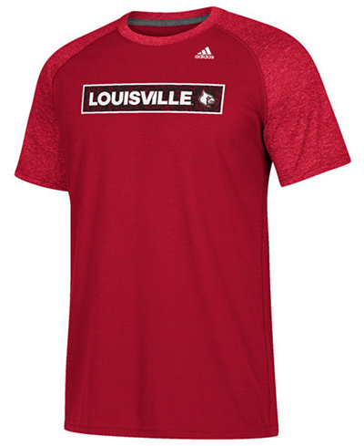 adidas Men's Louisville Cardinals White Noise Scoreboard T-Shirt