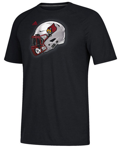 adidas Men's Louisville Cardinals Helmet T-Shirt