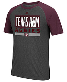 adidas Men's Texas A&M Aggies Linear Stack Raglan T-Shirt
