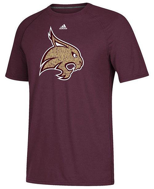 adidas Men's Texas State Bobcats White Noise Logo T-Shirt