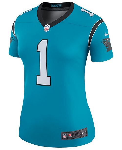 Nike Women s Cam Newton Carolina Panthers Color Rush Legend Jersey ... 0554637c6
