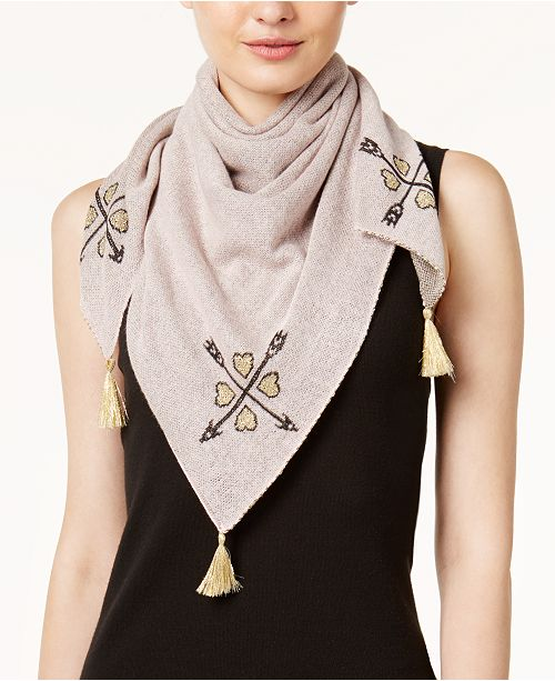 BCBGeneration Cupid's Arrows Knit Square Scarf