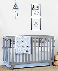 Petunia Pickle Bottom Southwest Skies  100% Cotton 3-Pc. Crib Bedding Set