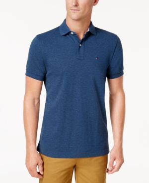 TOMMY HILFIGER Men'S Classic-Fit Ivy Polo in Malaga Blue Heather