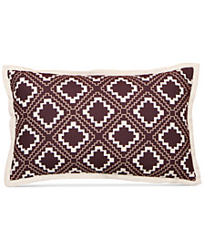 "LAST ACT! Hallmart Collectibles Purple Geo-Print 12"" x 20"" Decorative Pillow"