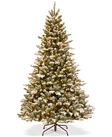 7.5' Feel Real® Snowy Sheffield Spruce Tree With 700 Warm White LED Lights & PowerConnect™