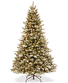National Tree Company 7.5' Feel Real® Snowy Sheffield Spruce Tree With 700 Warm White LED Lights & PowerConnect™