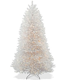 7.5' Dunhill® White Fir Hinged Tree With 750 Clear Lights