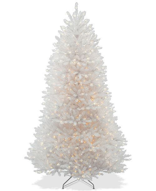 National Tree Company 7.5' Dunhill® White Fir Hinged Tree With 750 Clear Lights