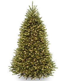 National Tree Company 7.5' Dunhill® Fir Hinged Tree With 700 Low Voltage Dual Color LED Lights
