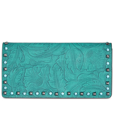 Anna Sui x I.N.C. Tooled & Studded Clutch, Created for Macy's