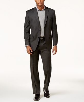 Marc New York by Andrew Marc Men's Classic-Fit Solid Charcoal Suit