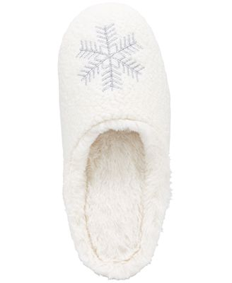 Charter Club Snowflake Clog Slippers, Created for Macy's