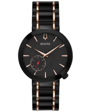 Bulova LIMITED EDITION BULOVA WOMEN'S SPECIAL LATIN GRAMMY EDITION DRESS BLACK & ROSE GOLD-TONE STAINLESS S
