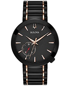 LIMITED EDITION Men's Special Latin GRAMMY® Edition Dress Black & Rose Gold-Tone Stainless Steel Bracelet Watch 42mm