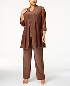 R & M Richards Plus Size Embellished 3-pc. Set