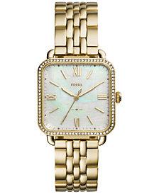 Fossil Women's Micah Gold-Tone Stainless Steel Bracelet Watch 32x32mm