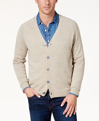 Weatherproof Vintage Men's 100% Cotton Soft Touch Cardigan Sweater ...