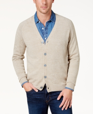 Men's Vintage Style Sweaters – 1920s to 1960s Weatherproof Vintage Mens Soft Touch Cardigan Sweater $41.99 AT vintagedancer.com