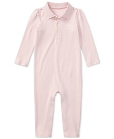 Ralph Lauren Baby Girls Cotton Coverall