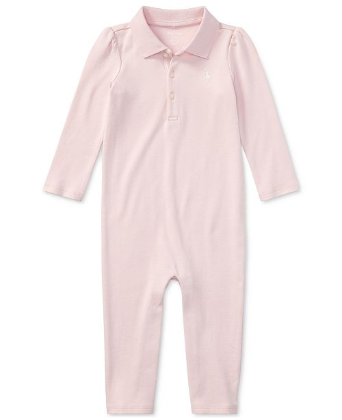 Polo Ralph Lauren Ralph Lauren Baby Girls Cotton Coverall