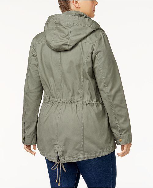 86e59d212c9 Style   Co Plus Size Twill Utility Jacket