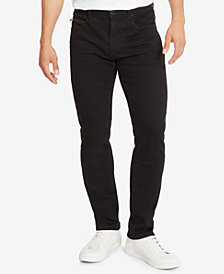 Kenneth Cole.Straight-Fit Black Wash Jeans