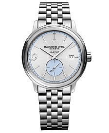 LIMITED EDITION  Men's Swiss Automatic Maestro Buddy Holly Stainless Steel Bracelet Watch 40mm -A Limited Edition