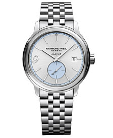 RAYMOND WEIL Men's Swiss Automatic Maestro Buddy Holly Stainless Steel Bracelet Watch 40mm -A Limited Edition