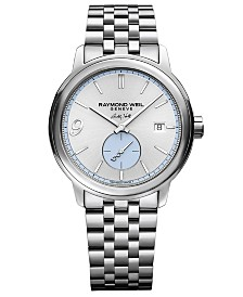 LIMITED EDITION RAYMOND WEIL  Men's Swiss Automatic Maestro Buddy Holly Stainless Steel Bracelet Watch 40mm -A Limited Edition