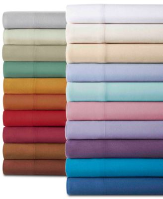 Micro Flannel® Solid 3-Pc. Twin XL Sheet Set
