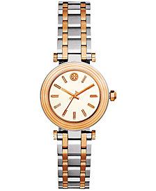 Tory Burch Women's Classic T Two-Tone Stainless Steel Bracelet Watch 30mm