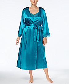 Thalia Sodi Plus Size Lace-Trimmed Nightgown & Wrap Robe Separates, Created for Macy's
