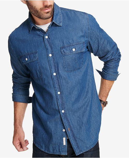 af4960601a Weatherproof Vintage Men s Indigo Denim Shirt  Weatherproof Vintage Men s  Indigo Denim ...
