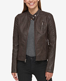 Levi's® Faux-Leather Biker Jacket
