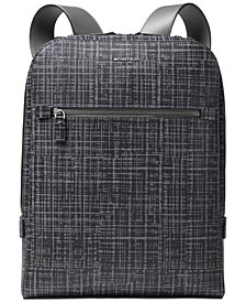Michael Kors Men's Printed Leather Backpack