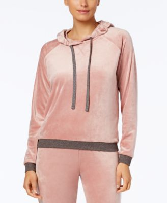Velvet Hooded Pajama Top, Created for Macy's