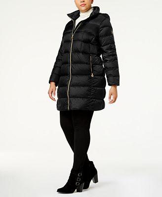 michael michael kors plus size packable down puffer coat - women