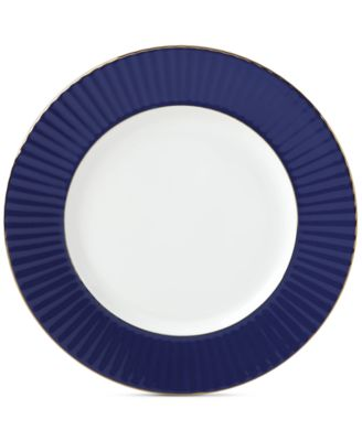 Pleated Colors Navy  Dinner Plate