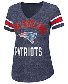 Women's New England Patriots Big Game Rhinestone T-Shirt