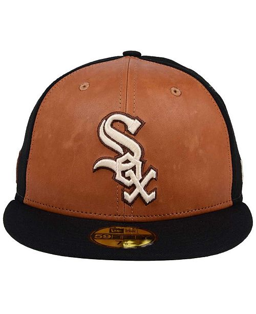 huge discount e2da5 d8e7a ... top quality new era. chicago white sox x wilson leather front 59fifty  fitted cap.