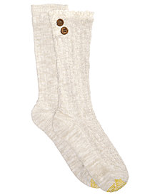 Gold Toe Women's 2-Pk. Cable Buttons Boot Socks