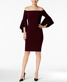 Petite Off-The-Shoulder Sheath Dress
