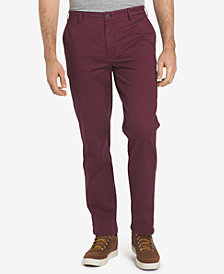 IZOD Men's Saltwater Washed Straight-Fit Stretch Chino Pants