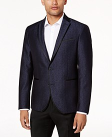 Men's Slim-Fit Navy Shine Dinner Jacket