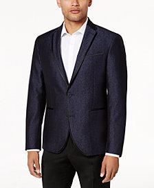 Kenneth Cole Reaction Men's Slim-Fit Navy Shine Dinner Jacket