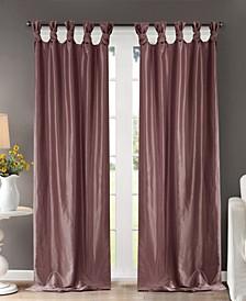 "Emilia 50"" x 120"" Lined Faux-Silk Twisted Tab Window Panel"