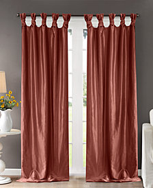 "Madison Park Emilia 50"" x 108"" Lined Faux-Silk Twisted Tab Window Panel"
